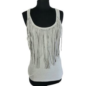 Dots Cool Fringe Jersey Knit Tank Top